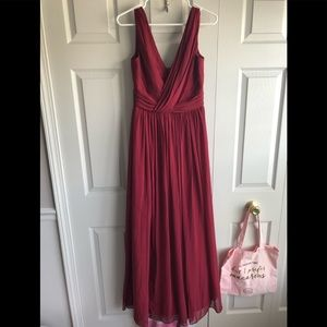 Dessy Collection Style 2894 Burgundy Size 6